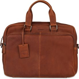 Burkely Leren Laptoptas Workbag 15.6 inch Antique Avery Cognac