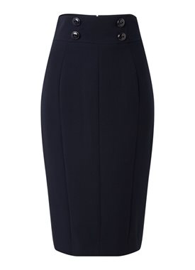 Damsel in a Dress Nina midi kokerrok met knoopdetail