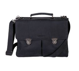 DSTRCT Wall Street Business Bag Classic Black 11-15 inch