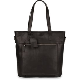 Laptoptas Burkely Jade Vintage Shopper Black 13 inch