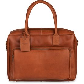 Laptoptas Burkely Leren Laptoptas 14 inch Fundamentals Vintage Mitch Worker Cognac