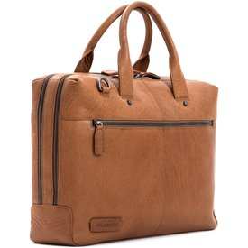 Laptoptas Plevier Heren Leren Laptoptas 15.6 inch Rock Flint Cognac