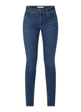 Levi's 711 mid waist skinny fit jeans met donkere wassing