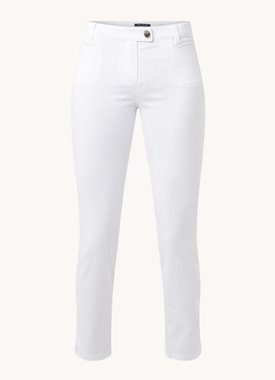 Marc O'Polo Mid waist slim fit cropped chino met stretch