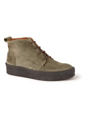 Shabbies Amsterdam Wallabee veterschoenen van suède