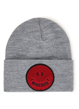 Woolrich Smile muts met patch