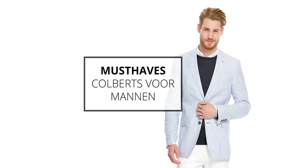 Musthaves: Colberts voor mannen